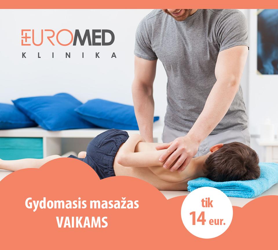 Gydomasis masažas vaikams tik 14 Eur